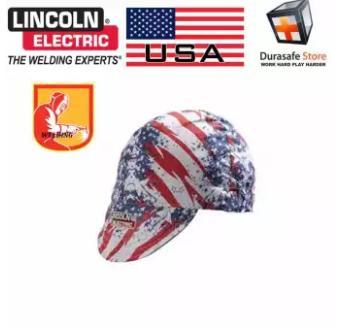 Nón hàn chịu nhiệt Lincoln K2995 Patriot 100% Cotton Welding Cap Universal FreeSize Họa tiết