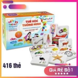 Bộ thẻ học thông minh 416 thẻ (16 chủ đề) phát triển kĩ năng IQ cho bé thumbnail