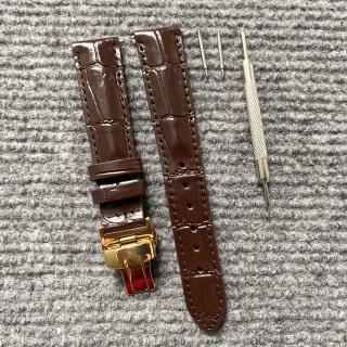 ND1. Dây đồng hồ DA BÒ DẬP VÂN CÁ SẤU Mềm Cao Cấp [ DA THẬT 100% ],TẶNG KÈM cây tháo lắp và 2 chốt đồng hồ ,SIZE từ 12mm đến 24mm dây đồng hồ da cá sấu nam , dây đồng hồ da nam , dây đeo đồng hồ nam , thumbnail