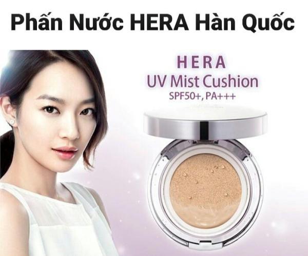 Phấn nước che khuyết điểm, kiềm dầu Hera UV Mist Cushion. Tặng lõi thay thế tốt nhất