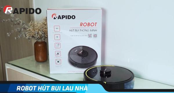 Robot Hút Bụi Lau Nhà Rapido RR5 -【Bảo Hành Chính Hãng Ferroli 】