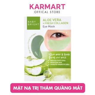 Mặt Nạ Giảm Thâm Quầng Mắt Baby Bright Aloe Vera & Fresh Collagen Eye Mask 5g ( 2 miếng ) thumbnail