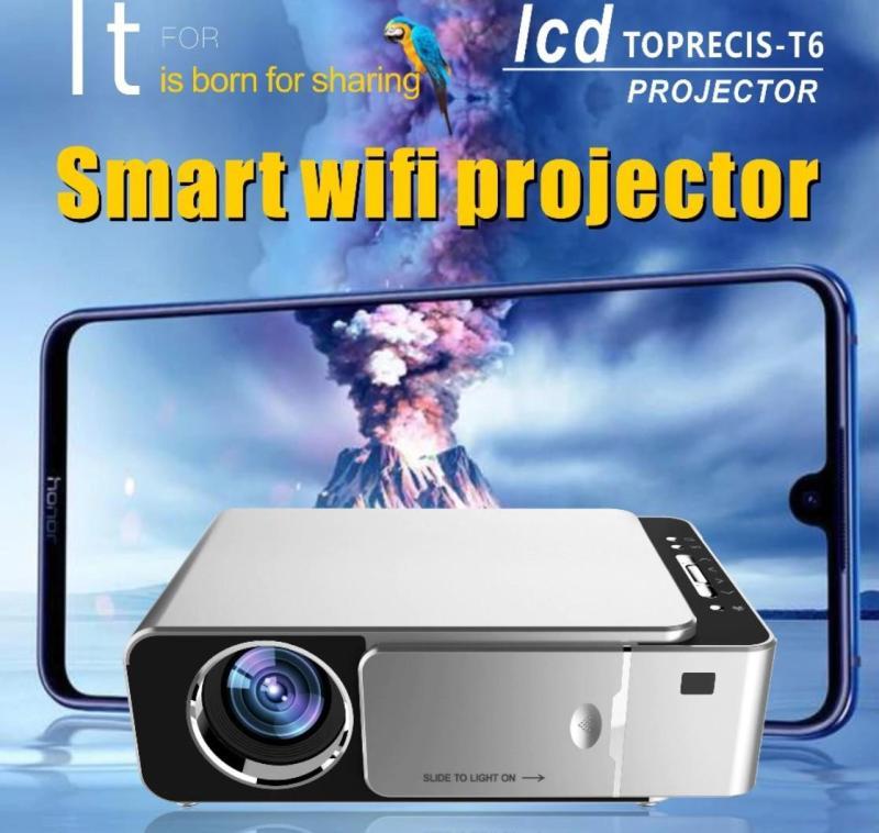 Bảng giá Máy chiếu Gia Đình Cao Cấp T6 Độ phân giải thật 720P-độ sáng 2600lumen-Phiên bản wifi Điện máy Pico