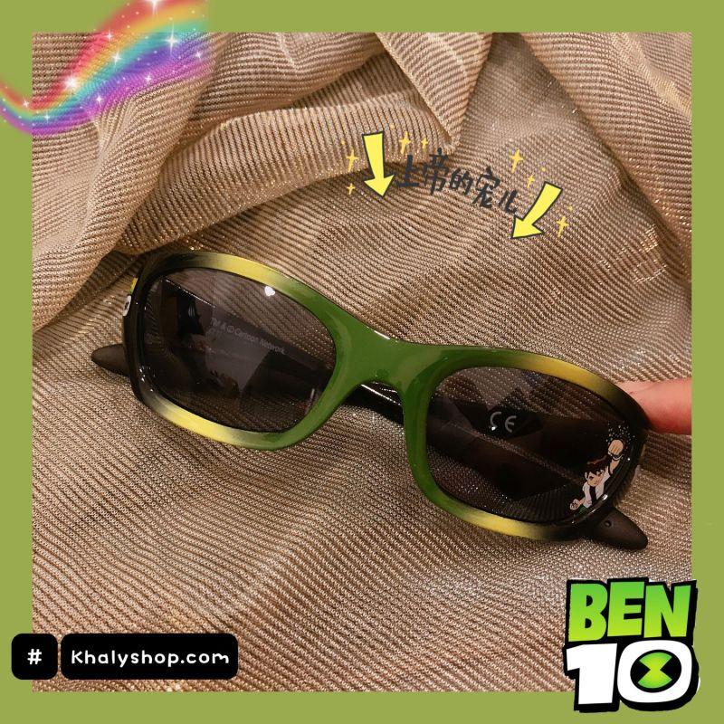 Giá bán Mắt kính mát cao cấp hình Ben10 màu xanh lá siêu xinh cho trẻ em, bé trai - 37P5NMKBEN