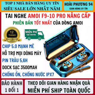 Tai nghe bluetooth AMOI f9-10 Phiên Bản Pro Nâng Cấp Chip f9-5.0 màn hình LED hiển thị dung lượng pin - Tai nghe bluetooth không dây nhét tai - Tai Nghe Bluetooth Không Dây Hay Hơn i11, i12s, Tai nghe buetooth, tai nghe bluetooth khong day thumbnail