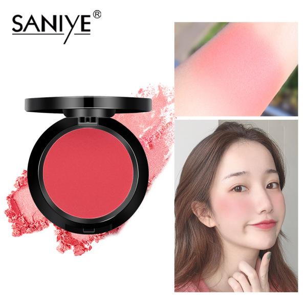 SANIYE phấn má hồng đỏ với gương cho mọi loại da, mỹ phẩm trang điểm xinh xắn dành cho các bạn gái E0119 - INTL giá rẻ