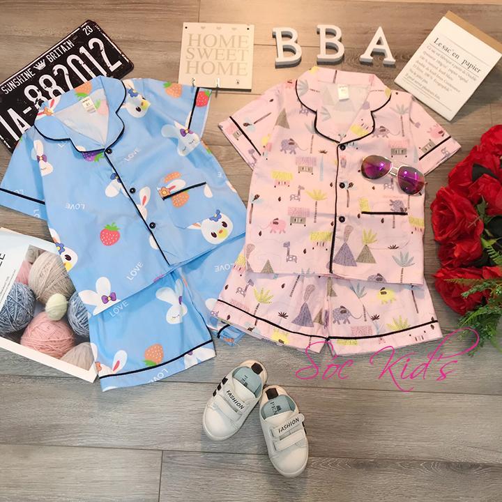 Giá bán Pijama Size Đại Cho Bé Trai - Gái 18-40kg