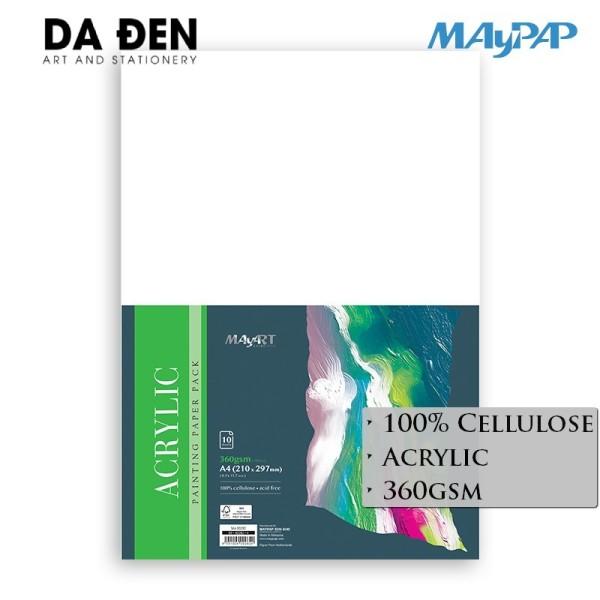 Rẻ - Giấy Acrylic MayArt 360gsm