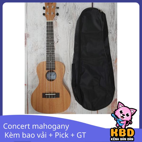 Đàn Ukulele Concert Music gỗ Mahogany+ Tặng Phím gảy 1 cạnh 0.73 Alice KBD 18A2-AL