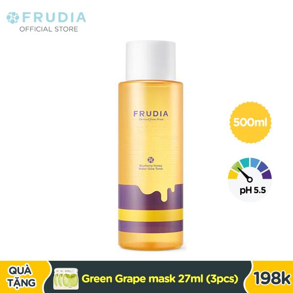 Nước Cân Bằng Da Việt Quất Mật Ong Frudia Blueberry Honey Water Glow Toner 500ml