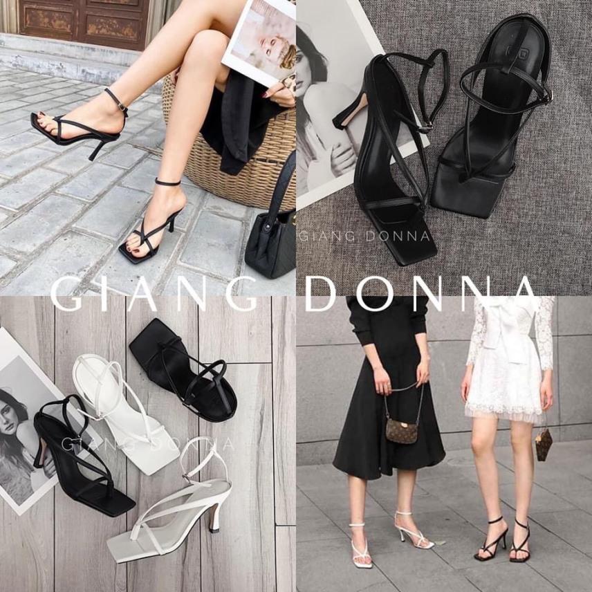 Giày gót mãnh 7 phân nối dây thời trang cao cấp giá rẻ