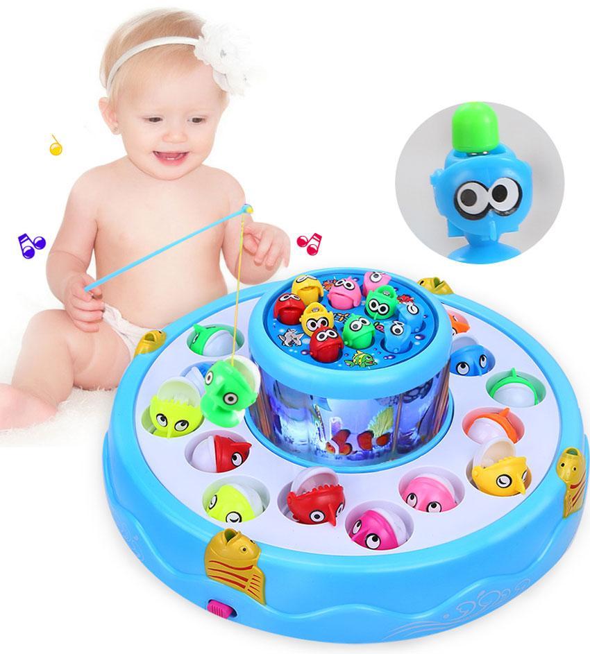 Trò chơi câu cá, đồ chơi trẻ em, đồ chơi câu cá 2 tầng có nhạc, có đèn sáng phát triển cho bé- Bảo hành 1 đổi 1