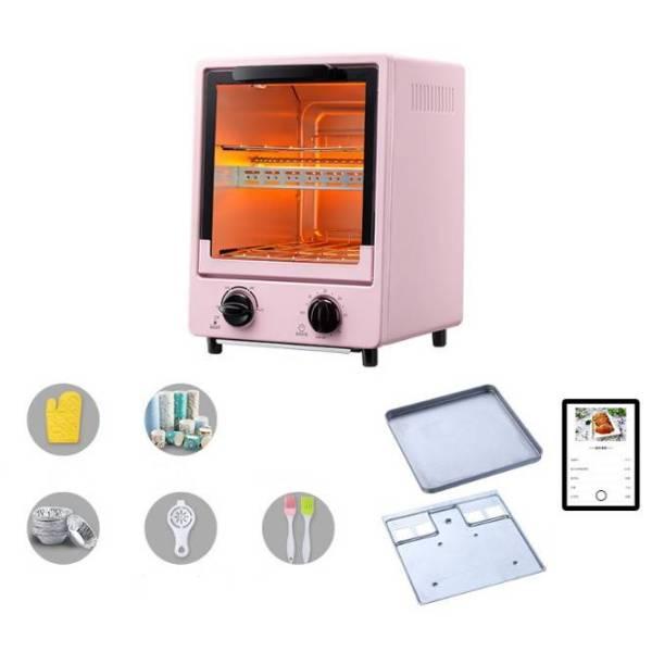 Lò nướng điện mini 900W 2 tầng Máy nướng bánh mì đứng gia đình đa chức năng Máy làm bánh nướng Phích cắm Việt Nam 900W Mini Electric Oven 2 Layer Vertical Toaster Household Multi-function Baking Cake Maker Vietnam Plug