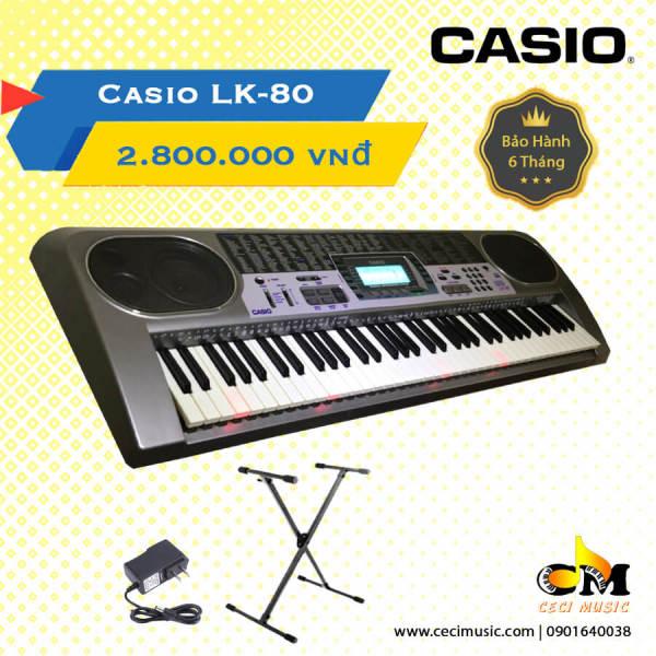 Đàn Organ Casio LK80 Hàng nội địa Nhật.  Like new 90%.Tặng chân đàn. Bảo hành 3 tháng.