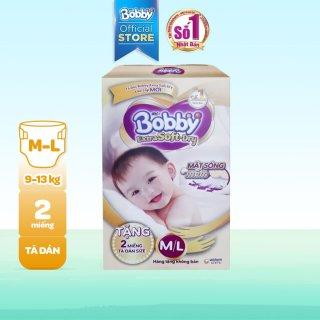 [QUÀ TẶNG KHÔNG BÁN] Hộp 2 miếng tã bỉm dán cao cấp Bobby Extra Soft Dry mă t bông siêu thâ m hu t (size M & size L) thumbnail