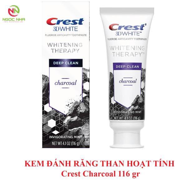 Kem đánh răng than hoạn tính làm trắng răng Crest 3D Whitening Therapy Charcoal 116gr giá rẻ