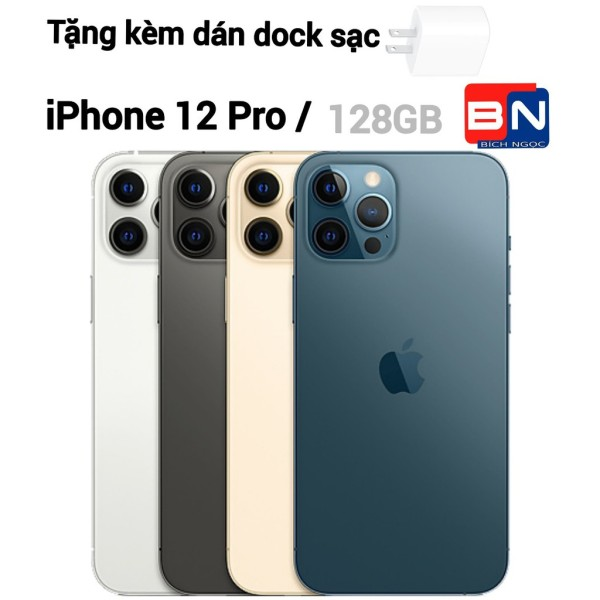 [Trả góp 0%]Điện thoại Apple iPhone 12 Pro bản 128GB - hàng new 100% chưa kích hoạt + Dock sạc 20W