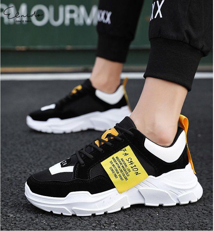 Coupon tại Lazada cho Giày Nam Giày Sneaker Nam Giày Thể Thao Nam Tăng 5cm Chiều Cao Cực Kì Ngầu 2020
