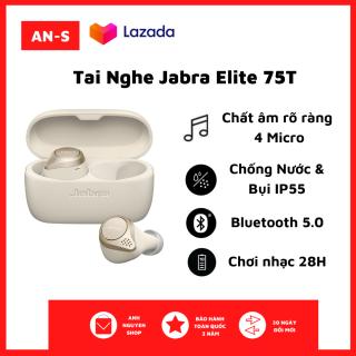 [NewSeal - Full Box] Tai nghe Bluetooth True Wireless Jabra Elite 75T - Tai Nghe Nhét Tai Không Dây - Chất Âm Thanh Cao, Âm Trầm Mạnh Mẽ - Sử Dụng Tối Đa 28h - Chống Nước, Chống Bụi IP55 - Thiết Kế Thời Trang, Nhỏ Gọn - Bảo Hành 2 Năm thumbnail