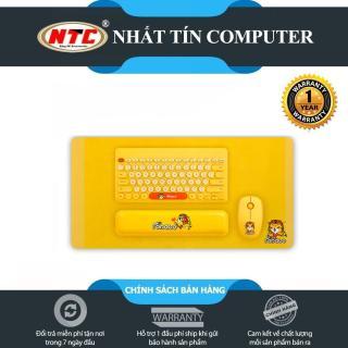 [Nhập ELJUN21 giảm 10%] Bộ sản phẩm 4 món không dây phím chuột lót và kê tay FD LK586 (Vàng) - Hãng phân phối chính thức - Nhất Tín Computer thumbnail