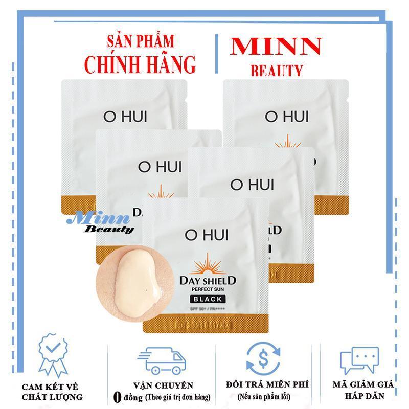 Combo 5 Sample Kem Chống Nắng Cho Da Bị Sạm Đen Ohui Sun Pro Black SPF50+/PA+++ 1ml x 5 nhập khẩu