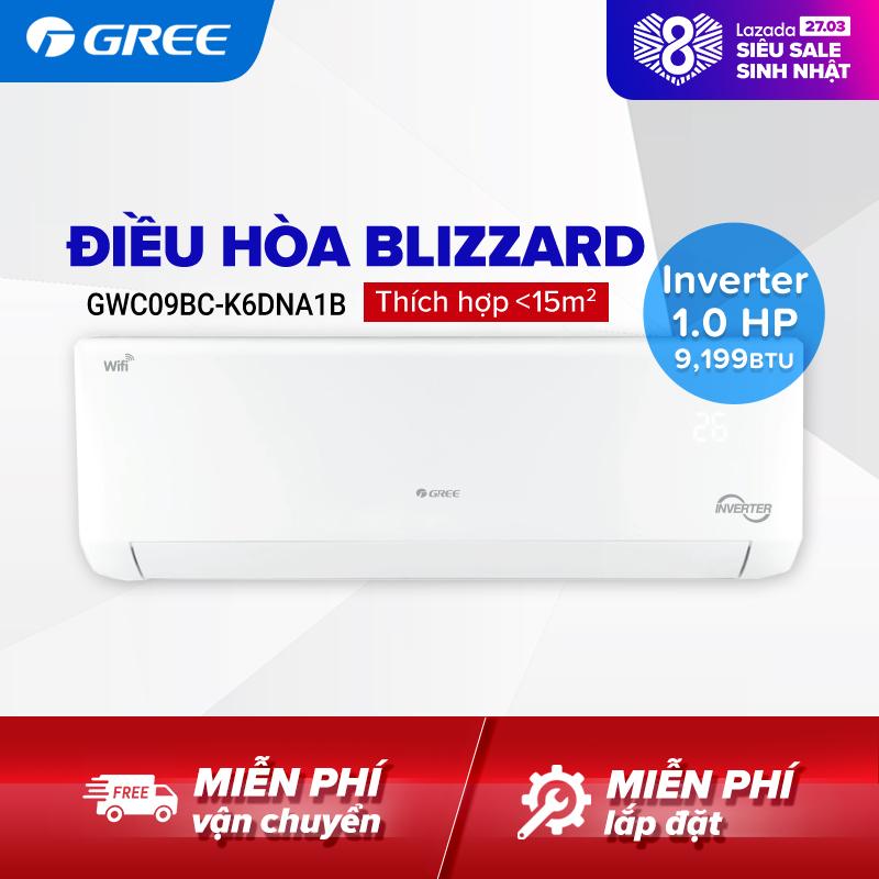 Bảng giá Điều hòa GREE- công nghệ Real Inverter - 1 HP (9.199 BTU) - BLIZZARD GWC09BC-K6DNA1B (Trắng) - Hàng phân phối chính hãng