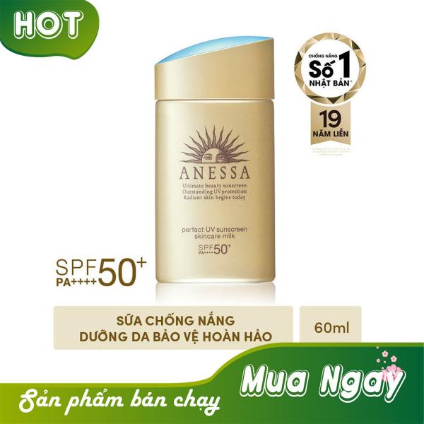 [SẢN PHẨM BÁN CHẠY] Kem Chống Nắng Anessa Perfect UV Sunscreen Skincare Milk Spf 50+ Pa++++ (60ml) TOP BÁN CHẠY - Dưỡng da và bảo vệ da tối đa với kết cấu mỏng nhẹ, khô ráo. nhập khẩu