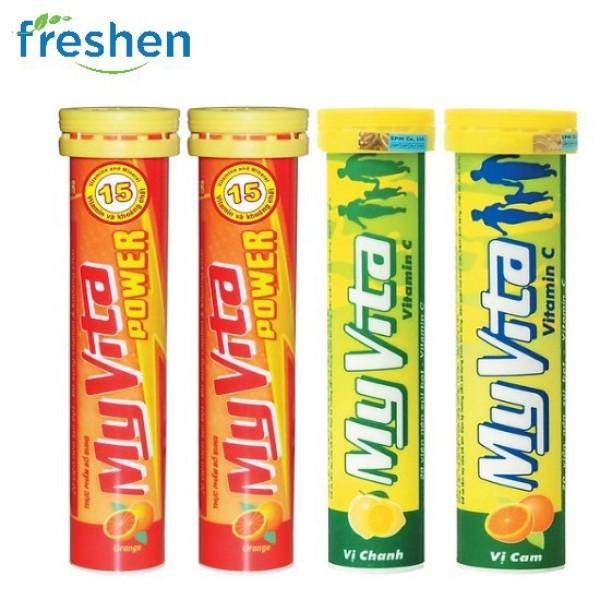 Vitamin c sủi myvita vị cam, vị chanh tube 20 viên giá rẻ