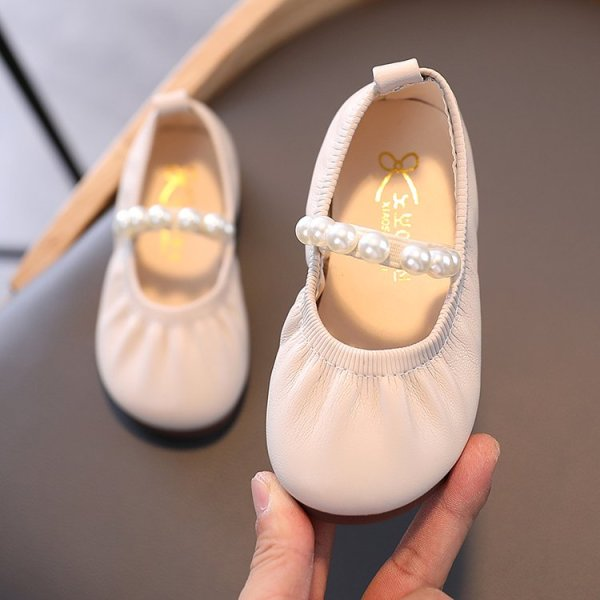 Giá bán Giày Búp Bê Đính Ngọc Trai Giả Thanh Lịch Cho Bé Gái 2-18 Tuổi
