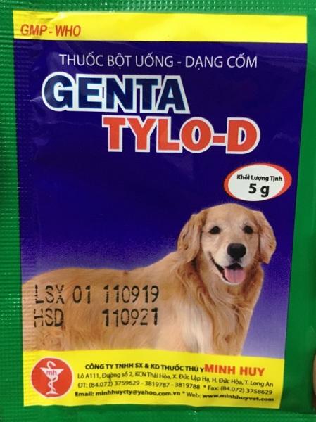 Genta Tylo D  - Đặc Tr ị Viêm Phổi, Viêm Da, Viêm Tử Cung, Viêm Khớp, Xổ Mũi Ho Trên Chó 5G