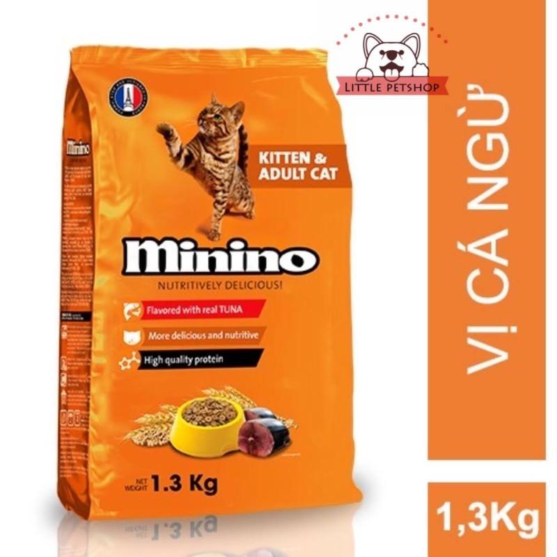 Thức Ăn Hạt Khô Cho Mèo Minino vị Cá Ngừ 1.3Kg
