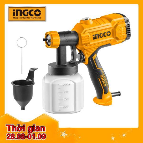 INGCO Máy phun sơn 450W , bình chứa  800ml, lưu lượng tối đa 380ml / phút, 50DIN-s SPG3508