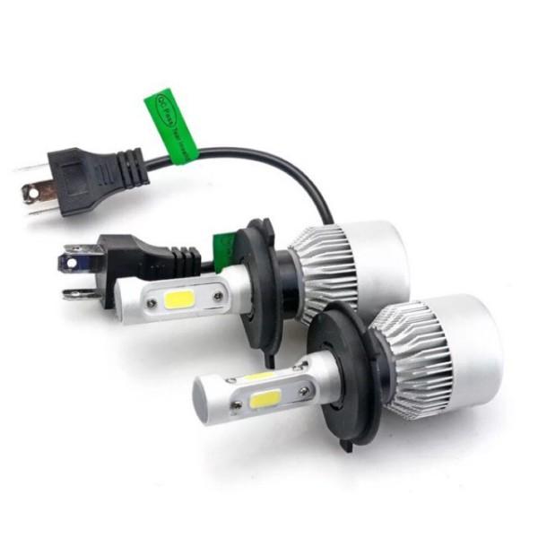 Đèn pha led ô tô-xe máy S2,C6-3Tim siêu sáng.Bh 6 tháng