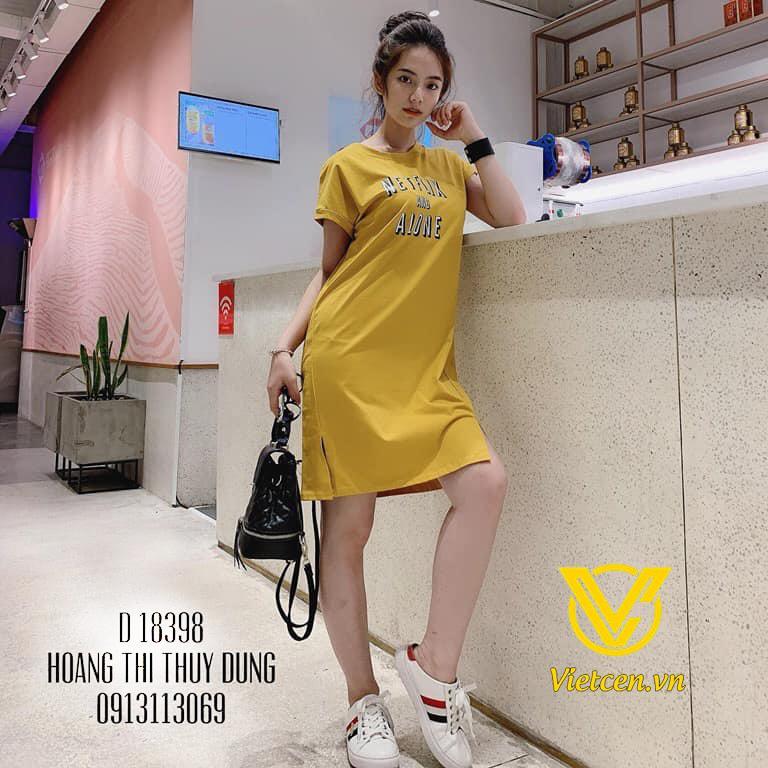 Váy suông nữ xẻ hông NETFLIX thời trang Hàn Quốc