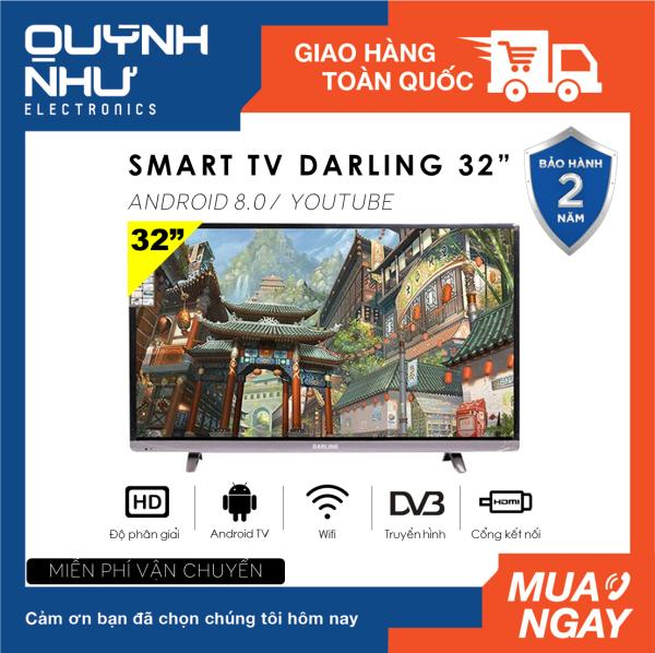 Bảng giá [FREESHIP-HCM] Smart Tivi Darling 32 inch Kết nối Internet Wifi Model 32HD960S1 / 32HD966S (mẫu nâng cấp của 32HD960S, HD Ready, Android 8.0, Youtube, Truyền hình KTS DVB-T2, Dolby Audio, màu đen) - Tivi giá rẻ - Bảo hành toàn quốc 2 năm