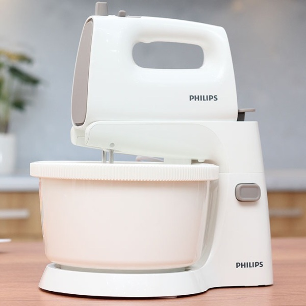 Máy đánh trứng Philips HR1559, sản phẩm được làm bằng thép không gỉ bền bỉ, an toàn, sản phẩm được bảo hành 12 tháng ( bảo hành điện tử)