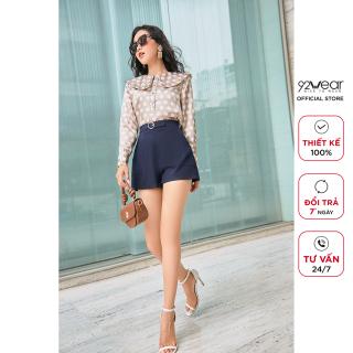 Quần shorts nữ tuýt si trơn 92WEAR tự tin năng động dạo phố SVA0601 thumbnail