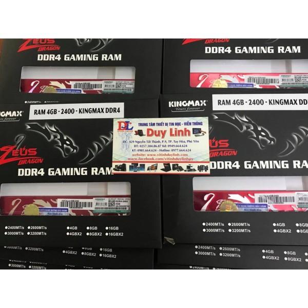Bảng giá Ram mới 4g ddr4 kingmax bus 2400 full hộp bảo hành 36 tháng - 4g zeus tản thép cam kết sản phẩm đúng mô tả chất lượng đảm bảo an toàn đến sức khỏe người sử dụng Phong Vũ