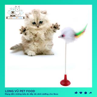 Đồ Chơi Vui Nhộn Cho Mèo. Đầu Hút Có Gắn Chuột, đồ chơi cho chó, đồ chơi cho mèo, đồ thú cưng thumbnail