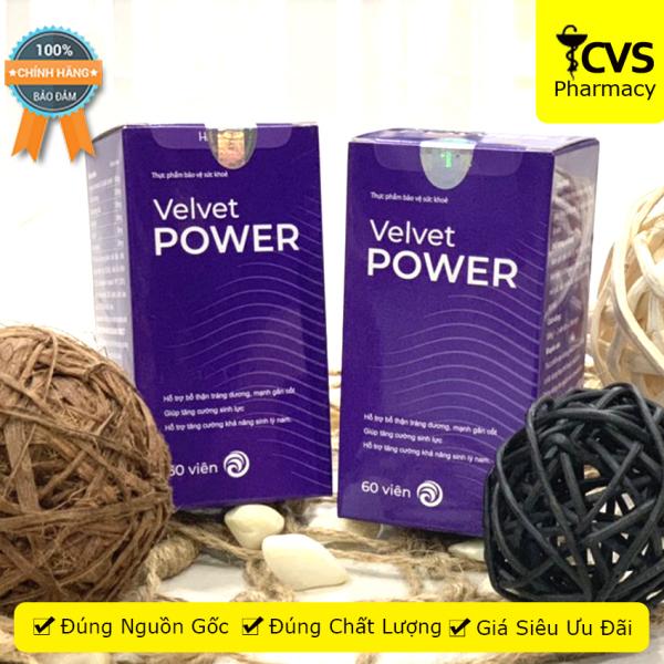 Velvet Power 1 Hour - Hộp 60 Viên uống hỗ trợ tăng cường sinh lý nam giới, giúp bổ thận, tráng dương - cvspharmacy cao cấp