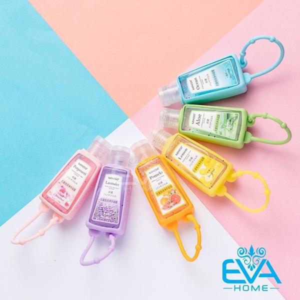 [HCM]Gel Rửa Tay Khô Kháng Khuẩn 30 Ml Cute Kèm Vỏ Bọc Silicone Sắc Màu Treo Tiện Lợi