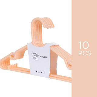 Bộ 10 móc phơi quần áo Miniso cao cấp móc nhựa treo quần áo móc treo móc áo giá treo quần áo kệ treo quần áo kệ quần áo Cloth Hanger (nhiều màu) - Hàng chính hãng thumbnail