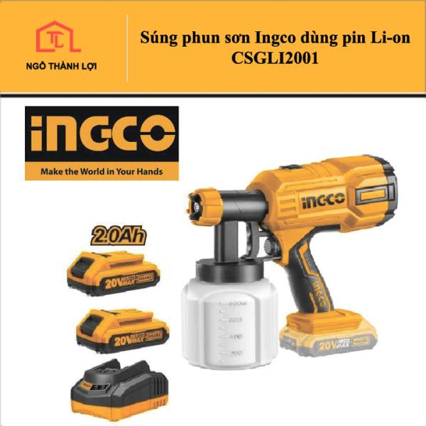 Súng phun sơn Ingco dùng pin Li-on CSGLI2001