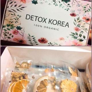 Hộp 30 Set Gói Trà Detox hoa quả sấy khô giảm cân, DETOX KOREA (ảnh thật) tặng kèm bình nhựa 1000ml - PKCB 2