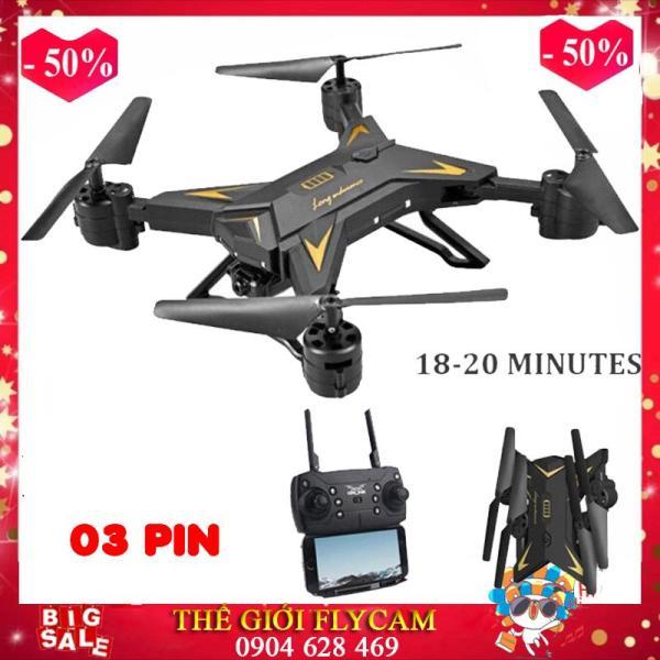 [Bộ 03 pin] Flycam KY601S Pin siêu khỏe - Bay 20P, Cánh Gập Camera WIFI FPV Full HD 1080p ,5MPx Truyền Hình Ảnh Về Điện Thoại