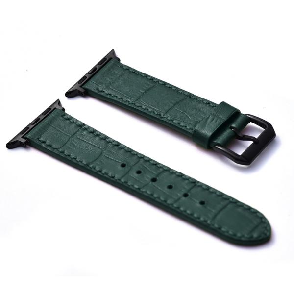 [FOCUS LEATHER] Dây đồng hồ apple watch , Da bò vân Cá Sấu , Dây da đồng hồ nam cao cấp FOCUS F02, da thật dành cho đồng hồ đeo tay , đồng hồ thời trang tặng kèm khóa đồng hồ + adapter , EDC, FOCUS , Dây Đeo Đồng Hồ Apple Watch , bán chạy