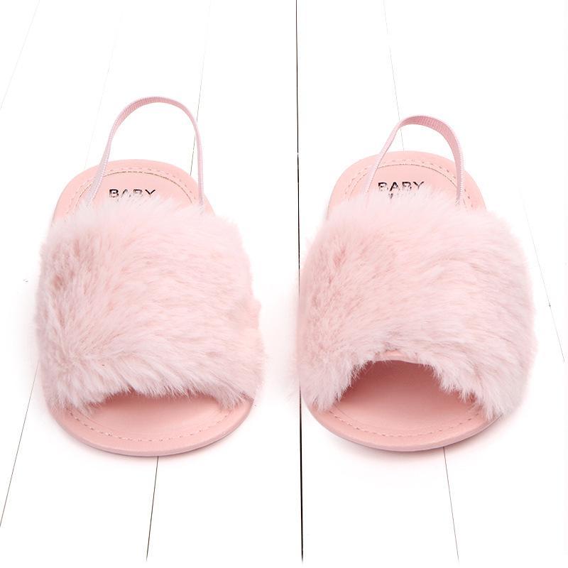 Giá bán Giày sandal lông có quai cho bé gái 13cm(9-20 tháng)
