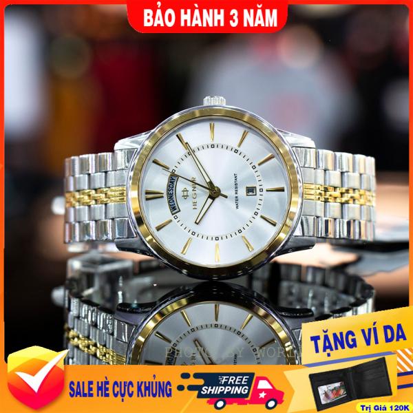 Nơi bán Đồng Hồ Nam Dây Thép Hegner HW-1655NM , full box, chống xước, chống nước, hàng phân phối chính thức, bảo hành 36T
