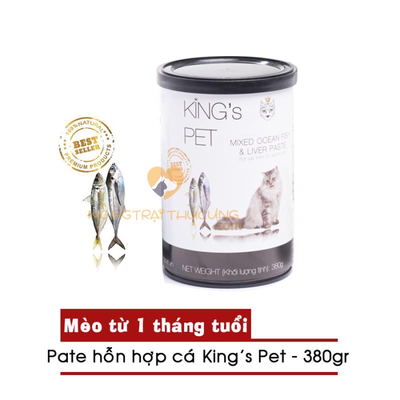 Pate Mèo Hỗn Hợp Cá King's Pet Lon 380g - [Nông Trại Thú Cưng]
