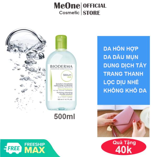 [CHÍNH HÃNG] Dung dịch làm sạch, nước tẩy trang Bioderma Sebium H2O Micellar cho da hỗn hợp và da dầu  - 500ml - MeOne Cosmetic - Tặng ví nữ mini 40k